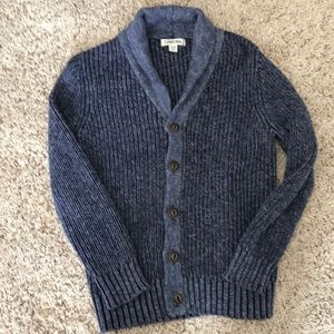 Boys Navy button down sweater.